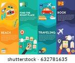 time for travel concept... | Shutterstock .eps vector #632781635