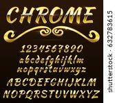 chrome shiny retro  vintage... | Shutterstock .eps vector #632783615