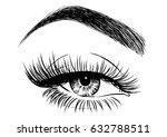 female eye illustration | Shutterstock .eps vector #632788511
