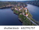 aerial view on czech medieval... | Shutterstock . vector #632791757
