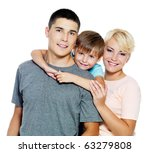 happy young family with son of... | Shutterstock . vector #63279808