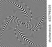 torsion illusion. abstract op... | Shutterstock .eps vector #632798105