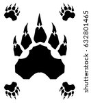 vector bear claw graphic | Shutterstock .eps vector #632801465