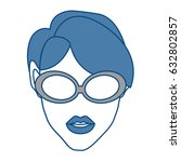 woman avatar icon | Shutterstock .eps vector #632802857