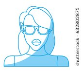 woman with sunglasses icon | Shutterstock .eps vector #632802875