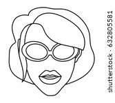 woman with sunglasses icon | Shutterstock .eps vector #632805581