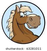 happy horse illustration