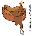 horse saddle | Shutterstock .eps vector #63281020