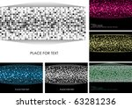 set of colorful background with ... | Shutterstock .eps vector #63281236