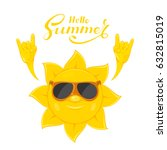 smiling sun in sunglasses with... | Shutterstock .eps vector #632815019