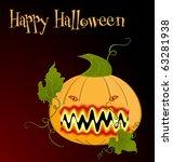 illustration the orange... | Shutterstock .eps vector #63281938