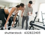 trainer practice in her act ... | Shutterstock . vector #632822405