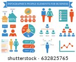 collection of infographic... | Shutterstock .eps vector #632825765