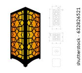 cut out template for lamp ... | Shutterstock .eps vector #632826521