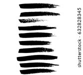 ink vector brush strokes.... | Shutterstock .eps vector #632828345