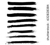 ink vector brush strokes.... | Shutterstock .eps vector #632828384