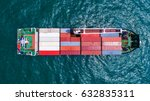 container container ship in... | Shutterstock . vector #632835311