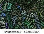 happy word cloud  abstract... | Shutterstock . vector #632838164