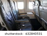 interior of airplane | Shutterstock . vector #632840531