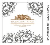 romantic invitation. wedding ... | Shutterstock . vector #632842937