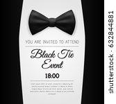 elegant black tie event... | Shutterstock .eps vector #632844881
