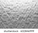 white shaded abstract geometric ... | Shutterstock . vector #632846999