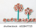shape of tree made of pencil... | Shutterstock . vector #632847725