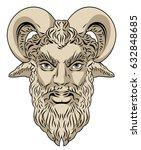 portrait of the god pan  faun    Shutterstock .eps vector #632848685