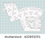 standard furniture symbols used ...   Shutterstock .eps vector #632853251