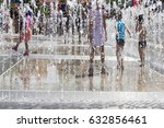 children playing with water in... | Shutterstock . vector #632856461