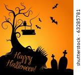 halloween background | Shutterstock .eps vector #63285781