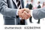 businessman shaking hands to... | Shutterstock . vector #632865944