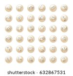 vector graphic set.icons in... | Shutterstock .eps vector #632867531