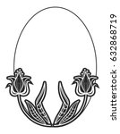 Black And White Oval Frame Wit...