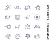 motion and speed linear icons.... | Shutterstock .eps vector #632869535