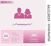 business cards design. vector... | Shutterstock .eps vector #632872799