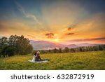 couple  love  nature and people ... | Shutterstock . vector #632872919
