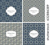 set of seamless geometric... | Shutterstock .eps vector #632886389