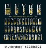 decorative sanserif bulk font... | Shutterstock .eps vector #632886521