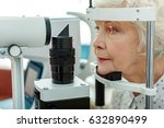 sight of old woman verifying by ... | Shutterstock . vector #632890499