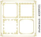 gold frame. set of gorgeous... | Shutterstock .eps vector #63289321