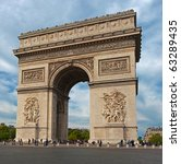 autumn view of the arc de... | Shutterstock . vector #63289435