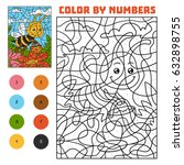 color by number  education game ... | Shutterstock .eps vector #632898755