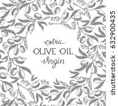 abstract olive oil vintage... | Shutterstock .eps vector #632900435
