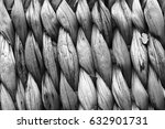 Small photo of Gray Raffia Place Mat Extra Rough Plaiting Grunge Texture
