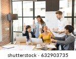 multiethnic asian group of... | Shutterstock . vector #632903735