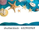 marine blue background with... | Shutterstock . vector #632903969