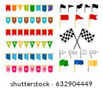 vector flag garlands and start... | Shutterstock .eps vector #632904449
