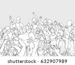 line art illustration of... | Shutterstock .eps vector #632907989