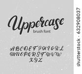 uppercase brush alphabet. hand... | Shutterstock .eps vector #632908037